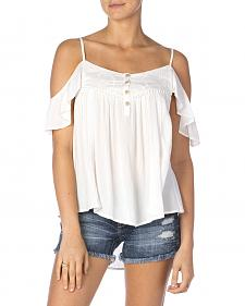 Miss Me Ruffled Off-the-Shoulder Cami