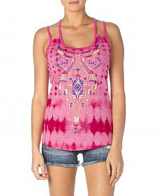 Miss Me Aztec Embroidered Tank Top