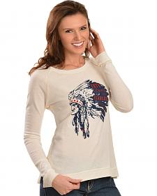 "ATX Mafia ""Fate Loves the Fearless"" Indian Chief Longsleeve Shirt"