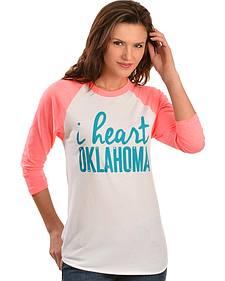 """ATX Mafia """"I Heart Oklahoma"""" Baseball Tee"""