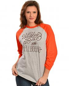 Cowgirl Justice Women's Whiskey Bent Baseball Tee