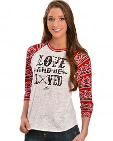 Ali Dee Love and Be Loved Baseball Tee