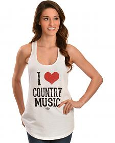 Ali Dee I Heart Country Music Tank Top