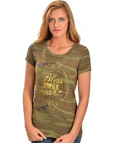 Katydid Bless Your Heart Camo Tee