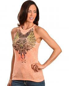 Cowgirls & Diamonds Women's Southern Rose Sleeveless Top