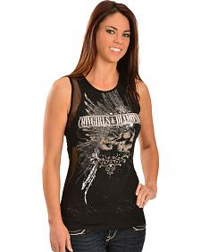 Cowgirls & Diamonds Women's Skull 'n Cute Tank Top