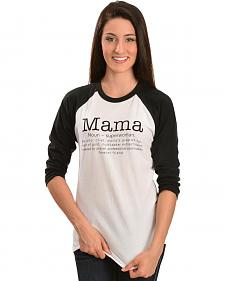 "ATX Mafia Women's ""Mama"" Definition Baseball Tee"
