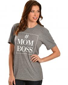 "ATX Mafia Gray ""#MOM BOSS"" Tee"
