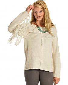 Others Follow Mila Fringe Sleeve Sweater