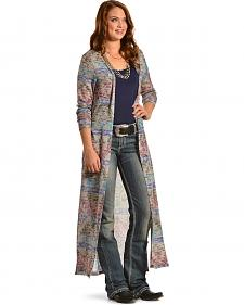 Derek Heart Women's Patterned Duster