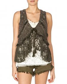 Miss Me Women's Mix Match Lace Vest