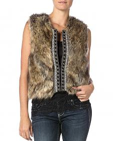 Miss Me Faux Fur Sweater Vest