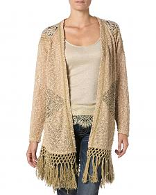 Miss Me Mix Match Lace Knit Cardigan Sweater
