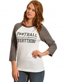 ATX Mafia Football Above Everything Baseball Tee
