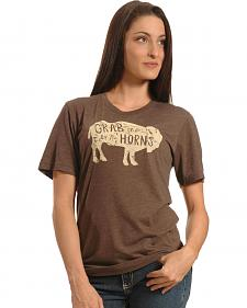 Cowgirl Justice Grab Life By The Horns Tee
