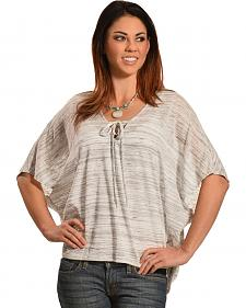 Petrol Women's Short Sleeve Poncho