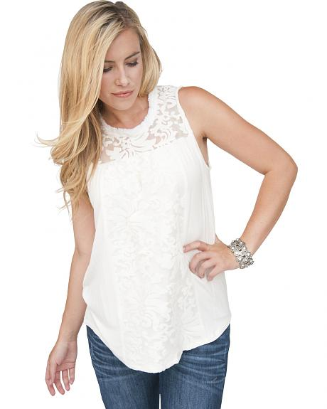 Petrol Women's Touch of Lace Tank
