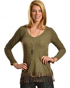 Others Follow Women's Swept Away Fringe Top