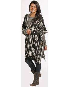 Rock and Roll Cowgirl Women's Open Front Aztec Poncho