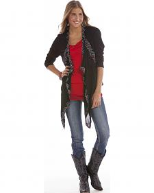 Rock and Roll Cowgirl Women's Open Front Wrap Cardigan