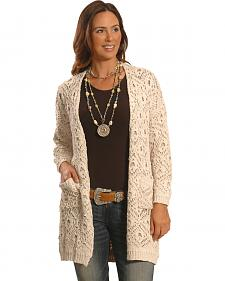 Petrol Women's Cream Knitted Wrap