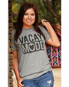 ATX Mafia Women's Grey Vacay Mode T-Shirt