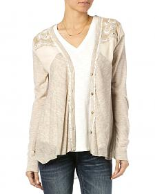 Miss Me Women's Paisley Pleat Cardigan