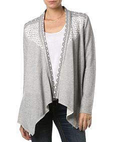 Miss Me Women's Crochet Dolce Cardigan