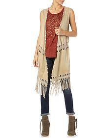Miss Me Women's Oh Mayan Fringe Vest