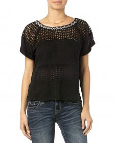 Miss Me Women's Unbeweavable Short Sleeve Top