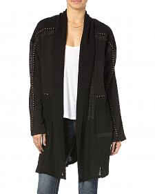 MIss Me Black Sequin Trim Cardigan
