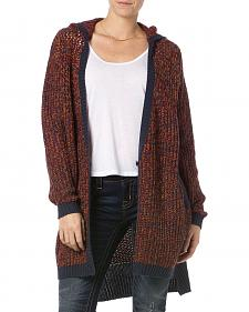 Miss Me Women's Burgundy Hooded Cardigan