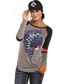 Rock and Roll Cowgirl Headdress Varsity T-Shirt