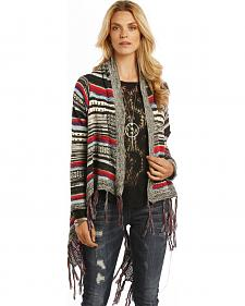 Rock and Roll Cowgirl Multi-Color Open Front Cardigan