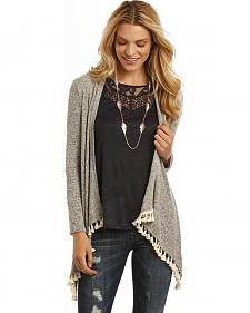 Rock and Roll Cowgirl Open Front Tassel Cardigan