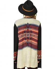 Miss Me Women's Aztec Oversized Cardigan
