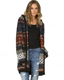 Miss Me Women's Multi-Color Hooded Cardigan