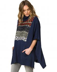 Miss Me Women's Before Sunrise Pullover Poncho