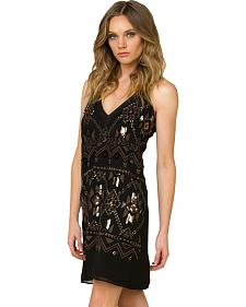 Miss Me Women's Black Sequined Sleeveless Dress