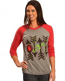 Bohemian Cowgirl Women's Holiday Arrows Long Sleeve Tee