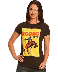 Bohemian Cowgirl Women's Rodeo Time Black T-Shirt