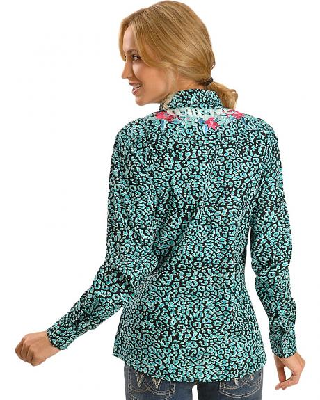 Cowgirl Hardware Leopard Print Western Shirt