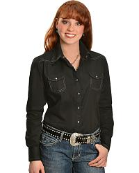Rock & Roll Cowgirl Embroidered Logo Western Shirt at Sheplers