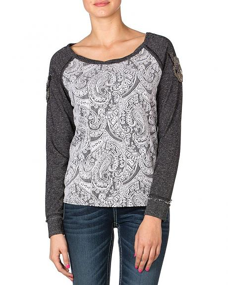 Miss Me Jacquard Pullover Top