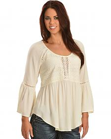 Miss Me Flutter Sleeve Lace Top