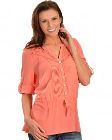 Miss Me Women's Sweet Life Woven Top