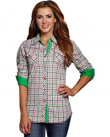 Cowgirl Up Women's Multi-Color Check Western Shirt
