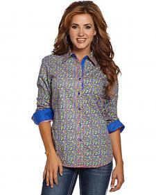 Cowgirl Up Women's Floral Print Snap Shirt