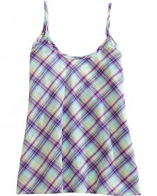 Tin Haul Women's Purple Minty Plaid Tank