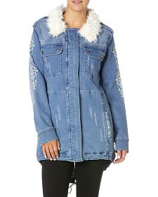 Miss Me Enter the Wild Denim Parka